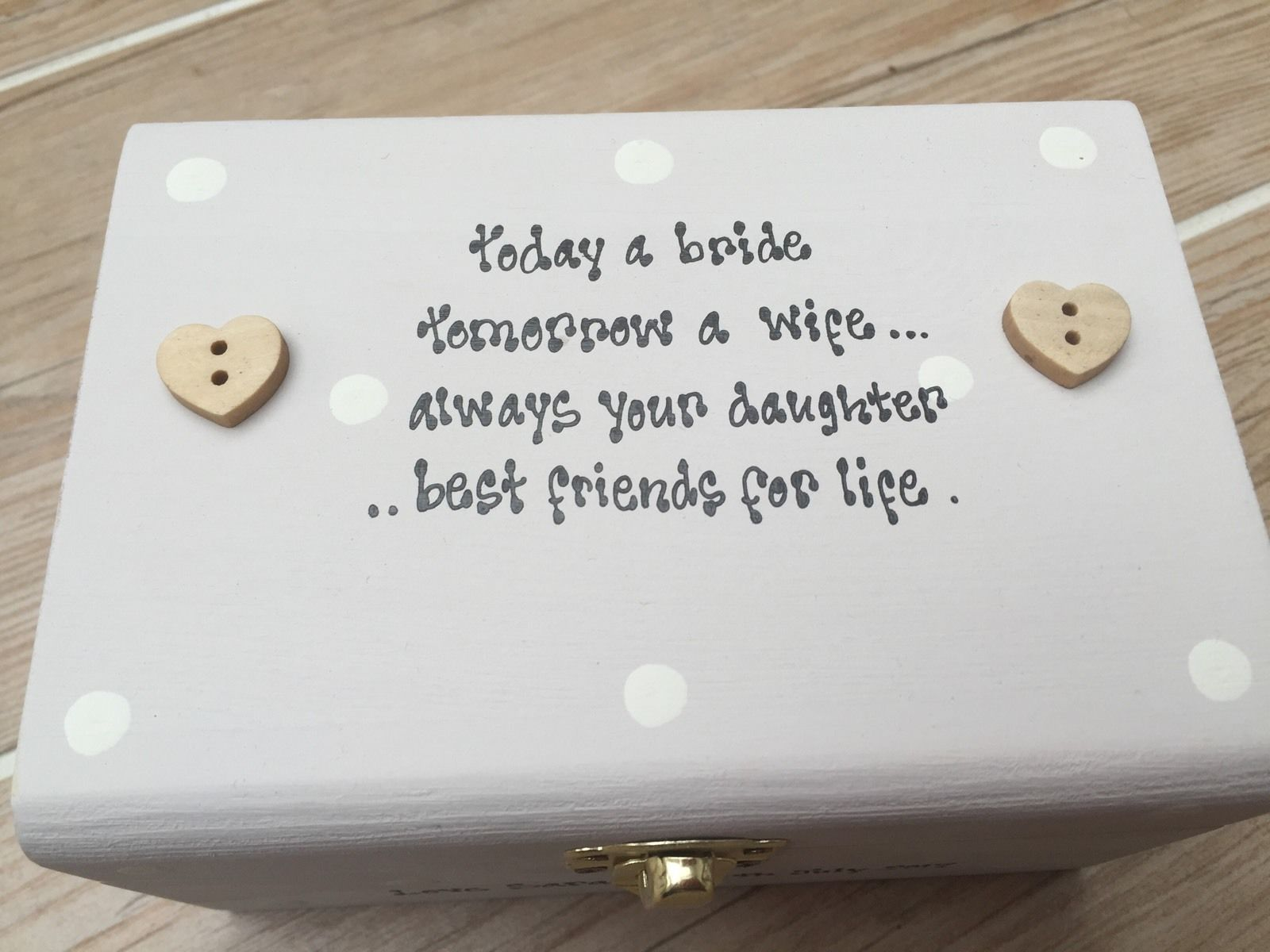shabby personalised chic box mother of the bride mum wedding present